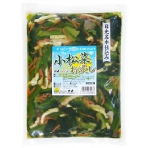 小松菜 と 油揚げ の おひたし